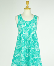 Sun Moda by Icantoo Babydoll Dresses - Jersey Cotton Cover Up in Seafoam Cove