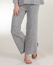 Women's Plus La Cera Brushed Rayon Blend Cozy Lounge Pants in Heather Gray