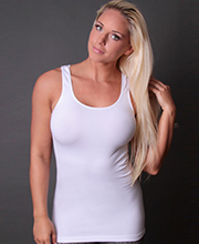Coobie Ultra Stretch Wide Strap Camisole in White
