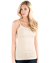 Downeast Cotton Spandex Blend Wonder Camisole in Nude