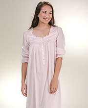Cotton Lawn Eileen West 3/4 Sleeve Ballet Nightgown - Pink Heaven