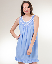 Sleeveless Cotton Modal Eileen West Short Nightgown in Dixie Daisy