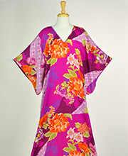 N by Natori Long 100% Polyester Kaftan in Petunia Pink