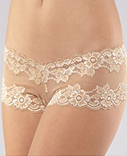Montelle Cheeky Boyshorts - Two-Pack Nylon Blend Panties in Nude