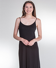 Natori Modal Blend Sleeveless Long Shangri-La Nightgown in Black