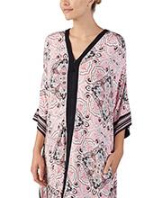 16f5f8ca445 Zip Front Ellen Tracy Rayon Blend Kaftan in Blossom Pink