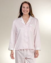 KayAnna Brushed Backed Satin Pajamas in Pink