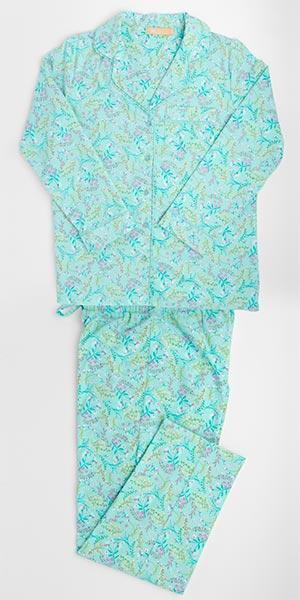 e1db3ba57e Plus Cotton Flannel PJs - La Cera PJ Set in Confetti Floral