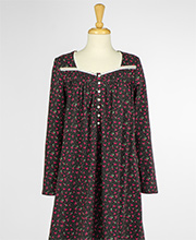 Nightgowns by Eileen West - Long Sleeve Cotton Knit in Berry Eve