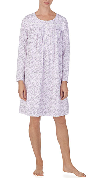 d3557bc024 Nightgowns by Eileen West - Long Sleeve Cotton Knit in Lilac Love