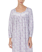 Nightgowns by Eileen West - Long Sleeve Cotton Rayon in Lavish Lavender