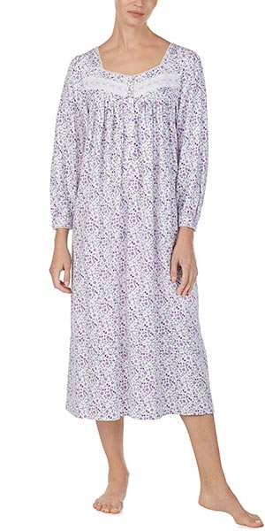 Nightgowns by Eileen West - Long Sleeve Cotton Rayon in Lavish Lavender 326c32f49
