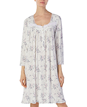 Eileen West Long Sleeve Modal Knit Short Gown in Gentle Rose