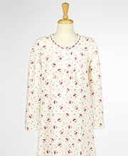 Aria Light Cotton Flannel Long Sleeve Nightgown - Heavenly Song