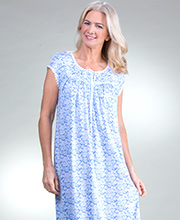 3ba81ae1cd Cotton Modal Eileen West Cap Sleeve Knit Nightgown in Bluehill Roses