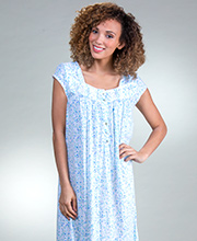 Eileen West Cap Sleeve MicroModal Knit Nightgown in Blooming Bayville