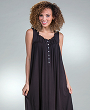 Eileen West Sleeveless Modal Nightgown in Licorice Lane
