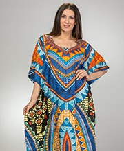 Women's Microfiber Caftans - Polyester One Size Sante Kaftan - Native Song