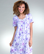 Cotton Carole Hochman Flutter Sleeve Nightgown in Berry Buds