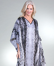 Long Winlar 100% Polyester Kaftan Lounger in Gray Congo