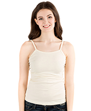 Downeast Cotton Spandex Blend Wonder Camisole in Egret