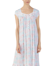 Modal Nightgowns - Eileen West Cap Sleeve Knit Nightgown in Garden Wonder