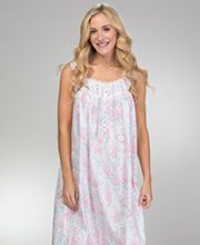 Eileen West Sleeveless Long Cotton Lawn Gown in Sweet Blush