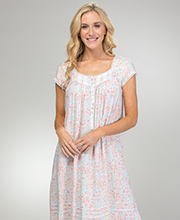 Eileen West Rayon Cap Sleeve Nightgown in Hillside Meadow
