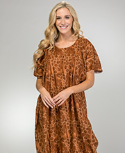100% Cotton Long One Size Caftans in Cocoa Tortoise