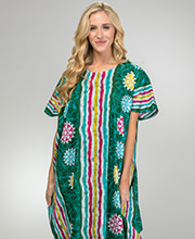 Cotton Caftans for Women - Long Caftan Loungers in Hunter Beach