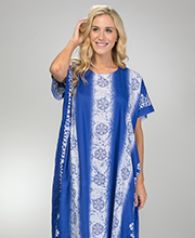 Long Cotton One Size Caftans in Royal Floral