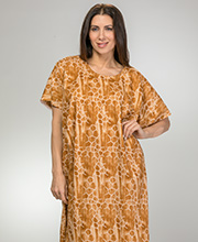 Caftans for Women - Long Cotton Kaftan in Sand Tortoise