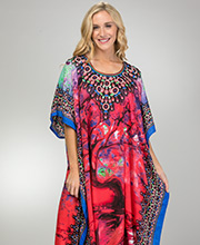 Microfiber Kaftans - Winlar Long Lounger in Enchanted Forest