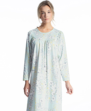 Calida Cotton Nightgowns - Long Sleeve Knit in Whisper