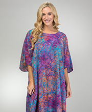 Plus Size Full Length Rayon Beach Loungers in Sunset Swirl