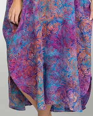 833d188bda Bali Batiks Kaftans - Full Length Rayon Beach Loungers in Sunset Swirl