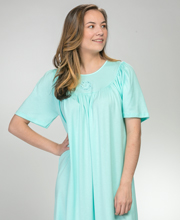 Calida 100% Cotton Knit Short Sleeve Nightgown in Assorted Solids