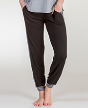 Kensie Rayon/Poly Blend Lounge Pants in Black
