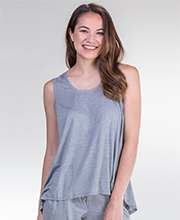 Josie by Natori Modal Knit Heather Gray Tank