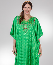Sante Classics Polyester One Size Full Length Caftan in Emerald City