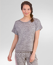 Kensie Short Sleeve Rayon/Poly Top and Capri Pants in Gray