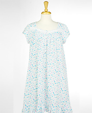 (C5020074-141 put on AZ) Short Eileen West Cap Sleeve Cotton Knit Nightgown in Party Blossom