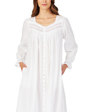 Eileen West Classic Button-Down Robe or Gown in Damsel White