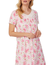 Carole Hochman 100% Cotton Knit Waltz Nightgown -  Pink Bouquet