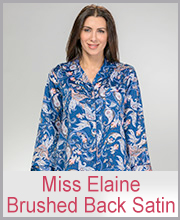 Miss Elaine Brushed Back Satin Sleepwear