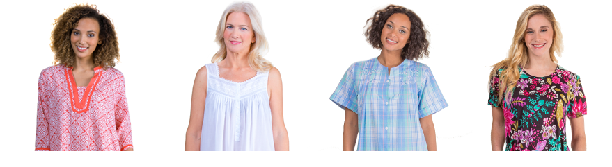 Shop a variety of cotton nightgowns, short sleeve dresses, beach loungers, swim coverups and more