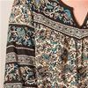 La Cera Lounger - Cotton Muu Muu Housedress in Teal Paisley Print