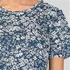 A-Line Cotton La Cera Dresses Knit Short Sleeve in Simply Navy