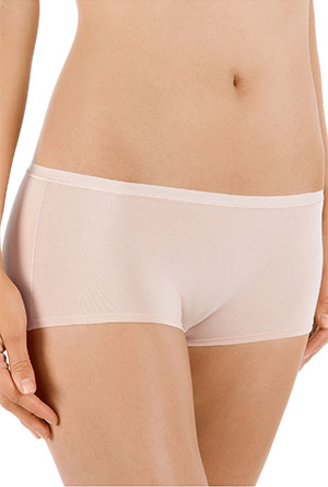 "Calida ""Comfort"" Cotton-Rich Boy Shorts Panties in Nude (25127)"