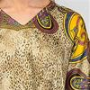 Sante Kaftans -  One Size Polyester V-Neck Lounger in Fancy Cheetah